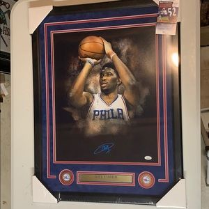 Other - Joel Embiid Signed 76ers 16x20 Photo Framed JSA